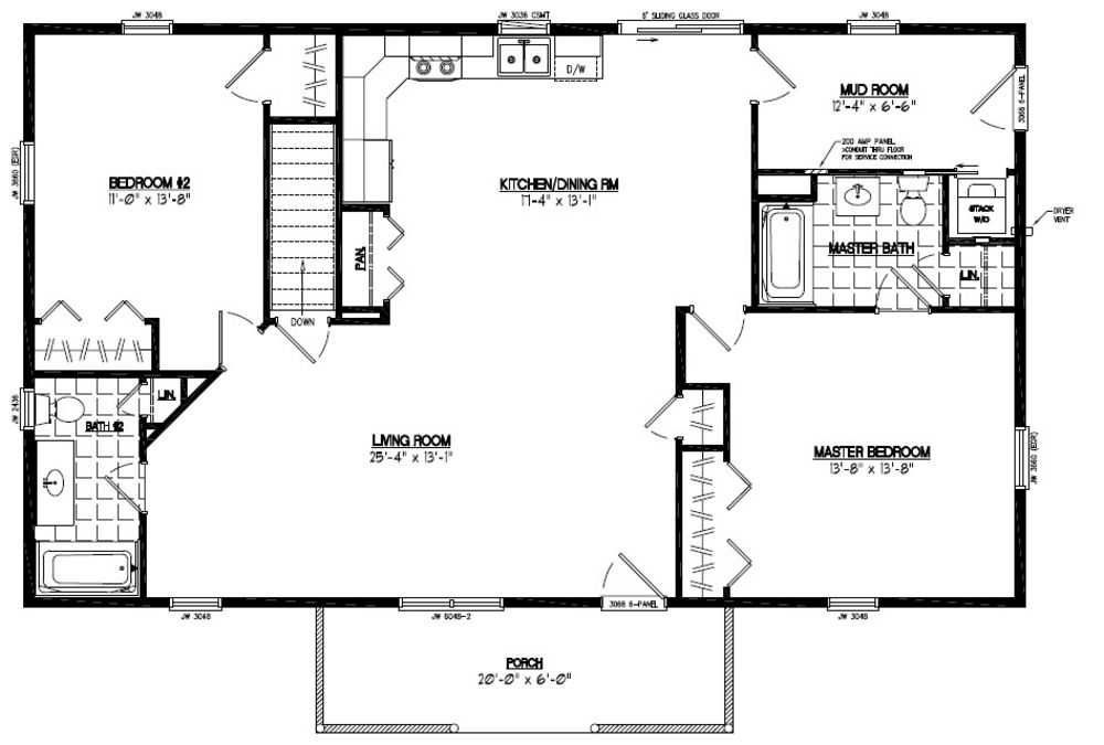 48 x 28 house plans home design and style for 24x36 ranch house plans
