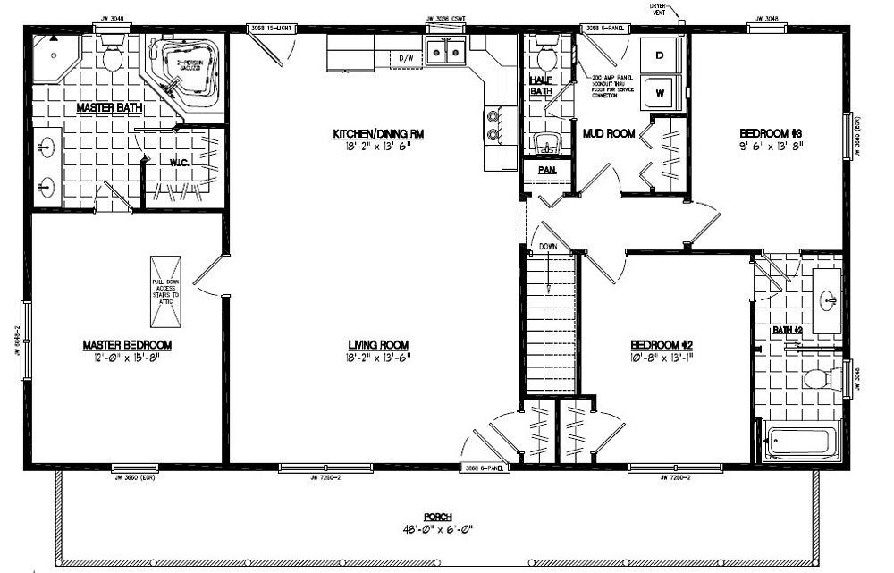 Certified Floor Plan - Musketeer Certified Floor Plan - 28 x 52 ...