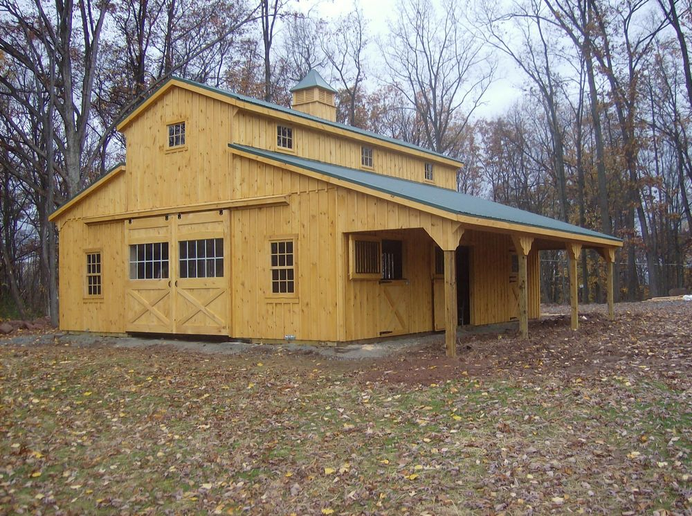 36 39 X36 39 Monitor Barn With Lean To Custom Barns And: carriage barn plans