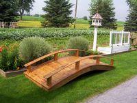 Garden Bridge - Wooden Japanese Garden Bridge - 10 Foot