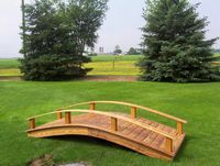 Garden Bridge - Wooden Japanese Garden Bridge - 10 Foot