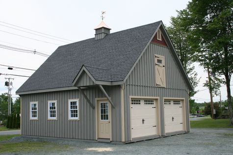 12 pitch garage 11 custom barns and buildings the for Modular carriage house garage