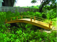 Bridge - Wooden Japanese Bridge - 12 Foot