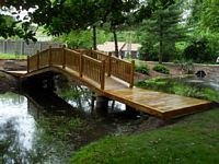 Bridge - Wooden Victorian Bridge - 20 Foot