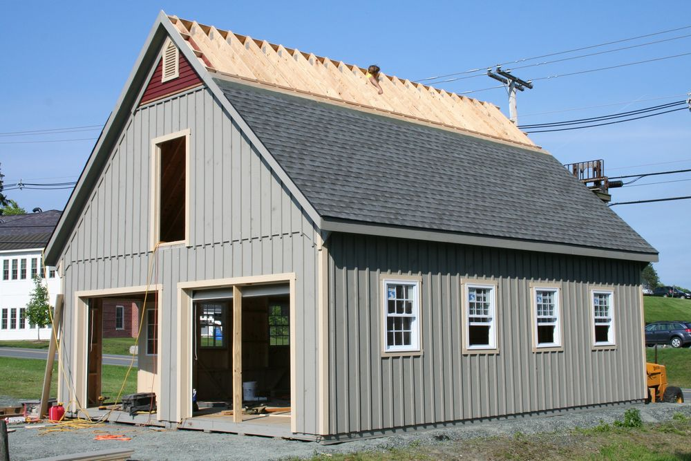 24 X36 12 Pich Garage6 Custom Barns And Buildings The