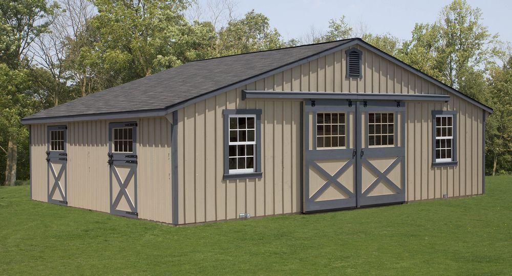 Modular Horse Barn Low Profile Trailside 30 X 24