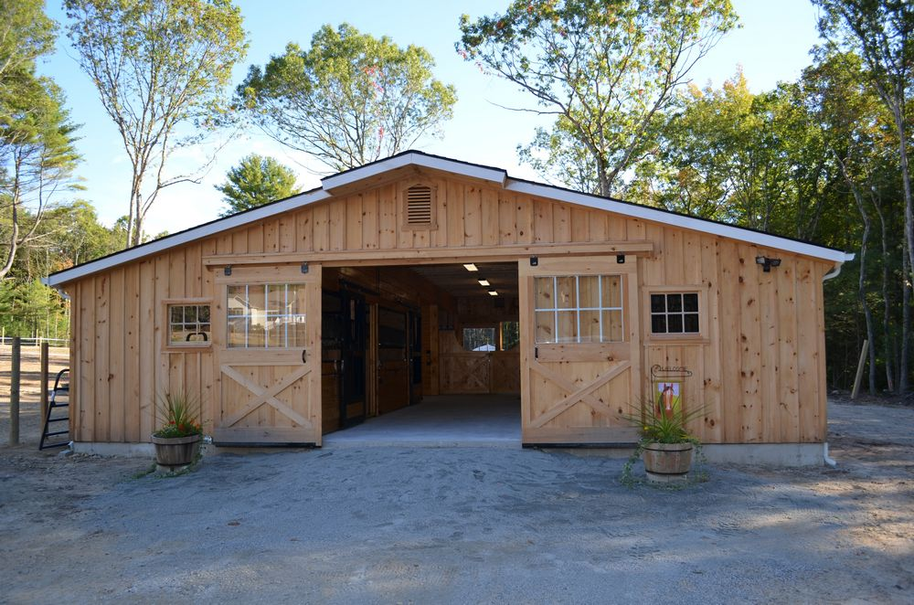 Low profile horse barns custom horse barn layouts for Horse barn materials