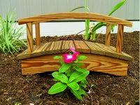 Bridge - Wooden Flower Bed Bridge