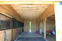 Modular Horse Barn - Low Profile Trailside Modular Horse Barn - 32 x36