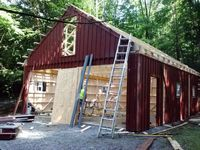 Panelized Garage - 8 Pitch Attic Truss Panelized Garage - 24 x 30