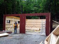 Panelized Garage - 8 Pitch Attic Truss Panelized Garage - 24 x 30