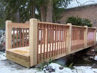 Bridge - Custom Wood Bridge - Oak & Mahogany - 20 Foot