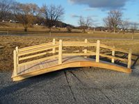 Bridge - Wooden Custom Rail Bridge - 16 Foot