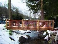 Bridge - Custom Wood Bridge - Oak & Mahogany - 20 Foot