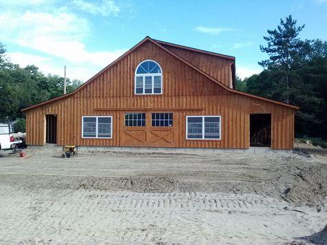 Modular Horse Barn - High Country Modular Horse Barn - 60 x 70