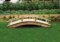 Garden Bridge - Wooden Japanese Garden Bridge - 8 Foot