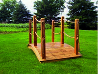 Bridge - Wooden Rope Bridge - 6 Foot