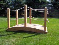Bridge - Wooden Rope Bridge - 6 Foot