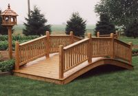 Bridge - Wooden Victorian Bridge - 14 Foot Wide