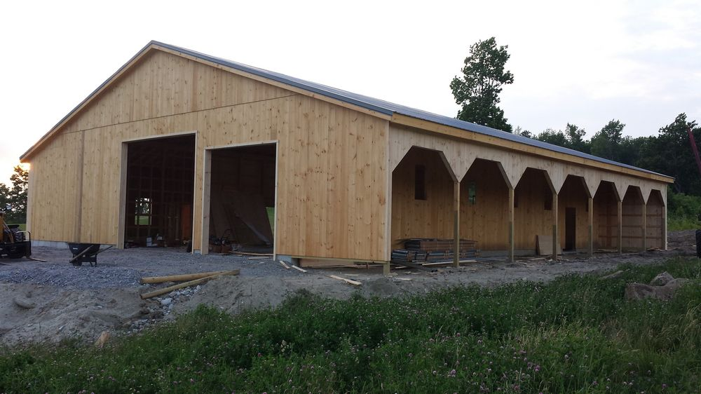 Ventilation For Pole Building : Horse barns variuos style quality