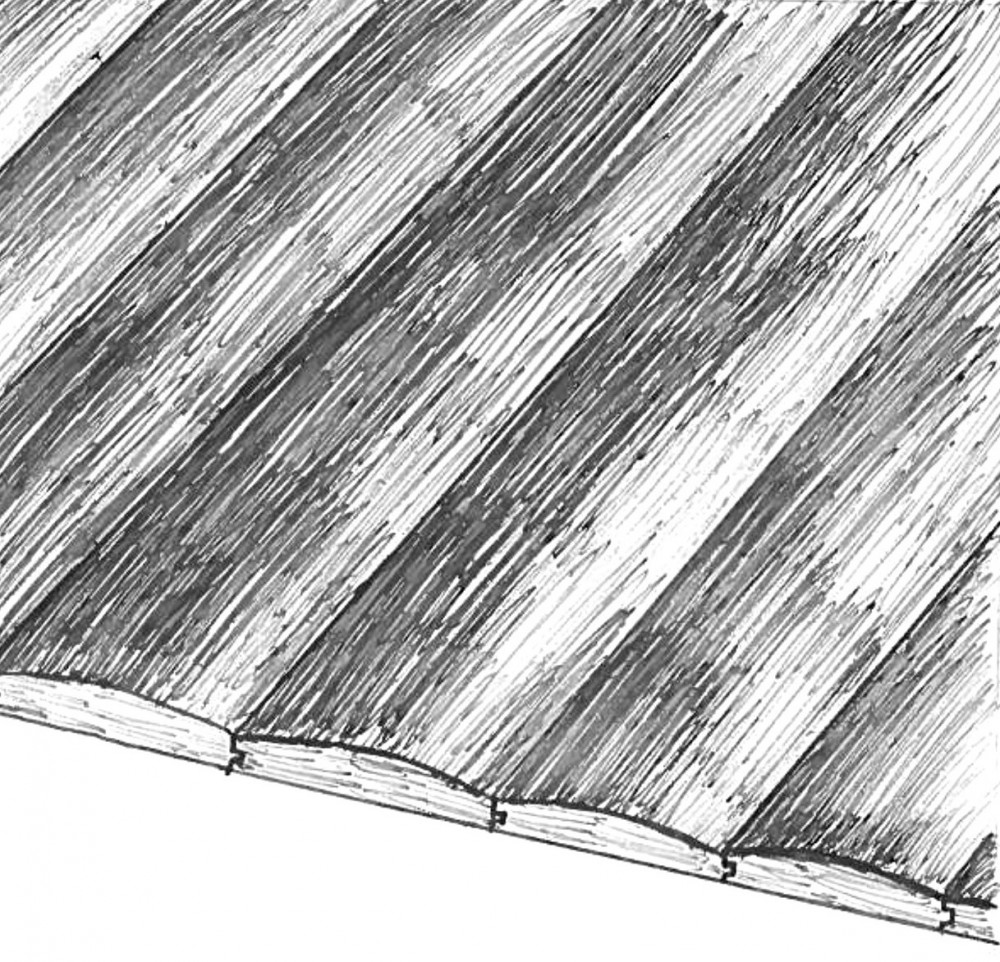 Log Siding Sketch