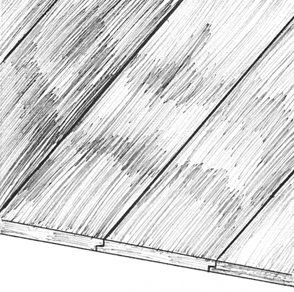 Shiplap Siding Sketch