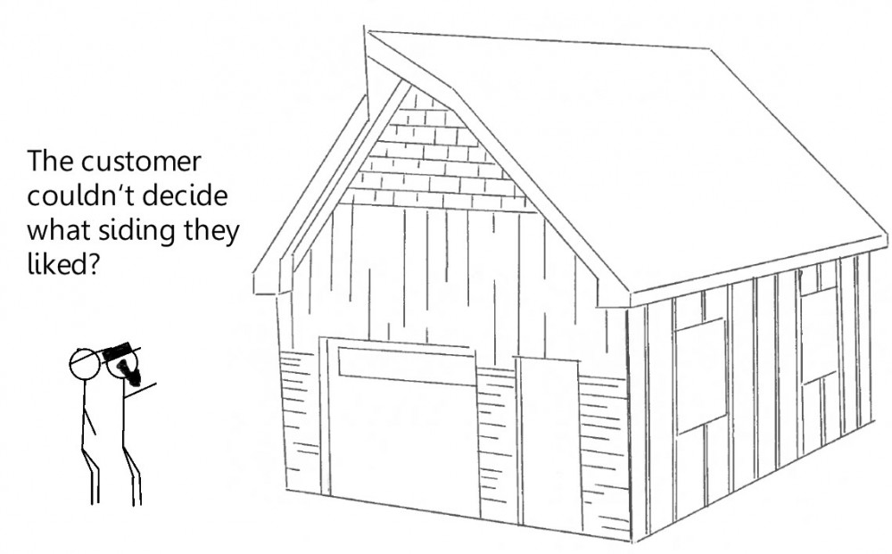 siding cartoon
