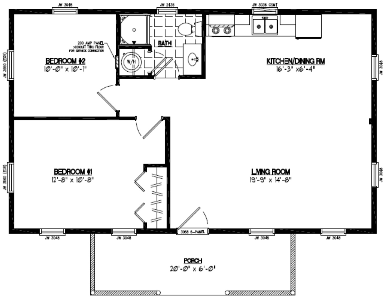 Certified homes pioneer certified home floor plans for 30 x 40 floor plans