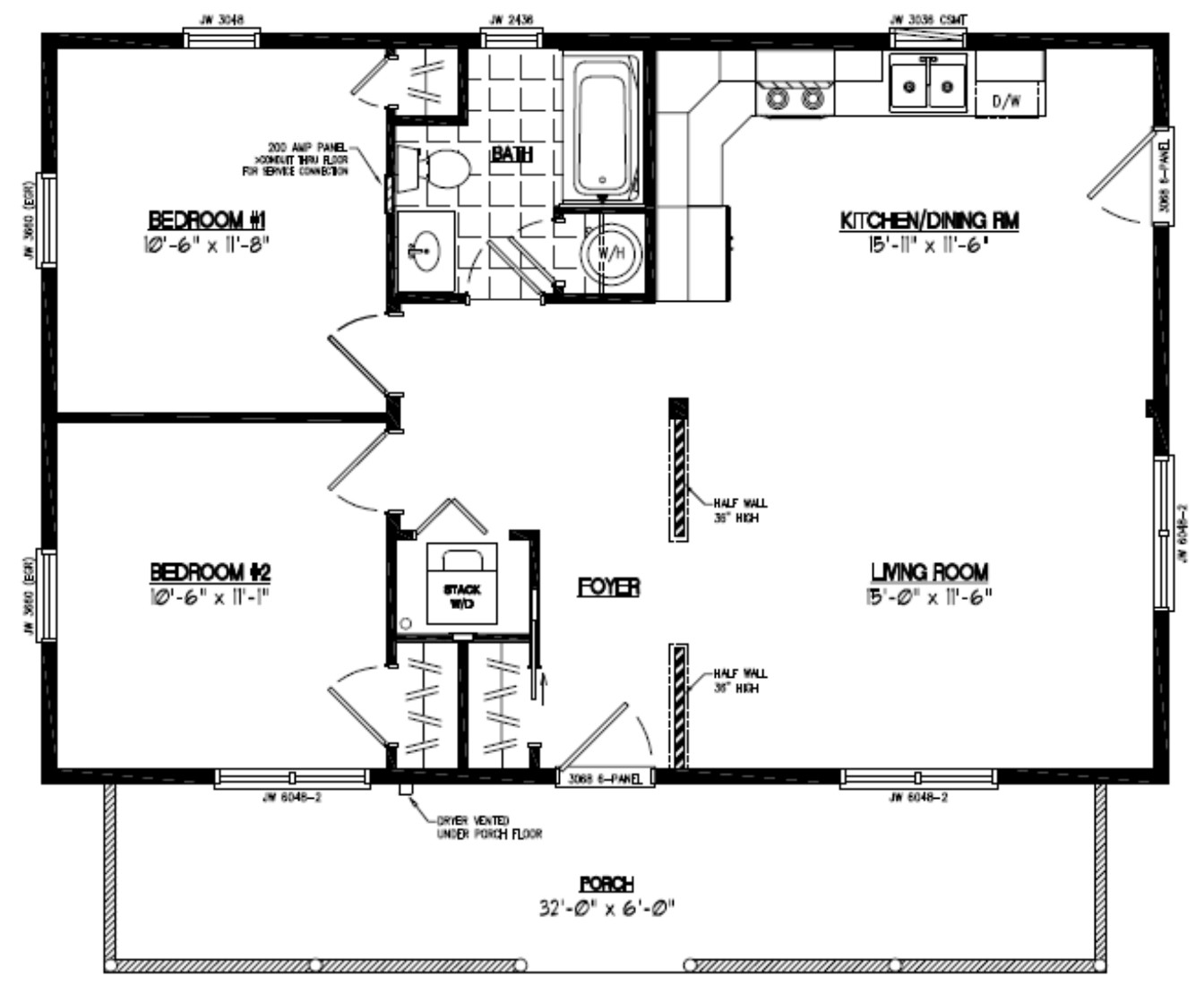24 x 36 2 story house plans
