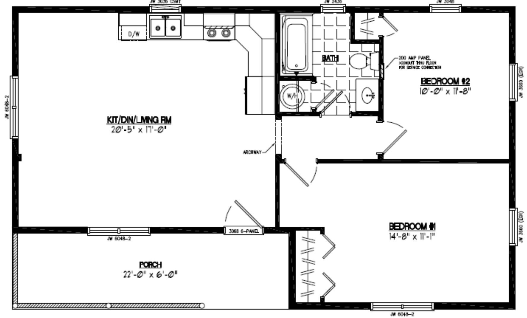 Certified homes frontier style certified home plans frontier floor plan 24fr602 pooptronica Gallery