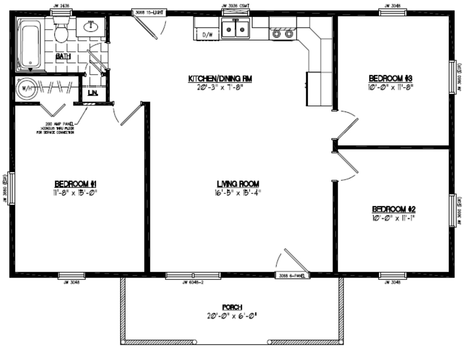 Certified Homes   Pioneer Certified Home Floor Plans    Pioneer Floor Plan   PR