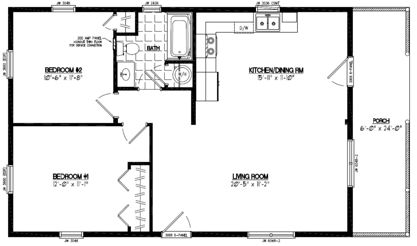 100 20 x 60 homes floor certified homes settler for 16x40 floor plans