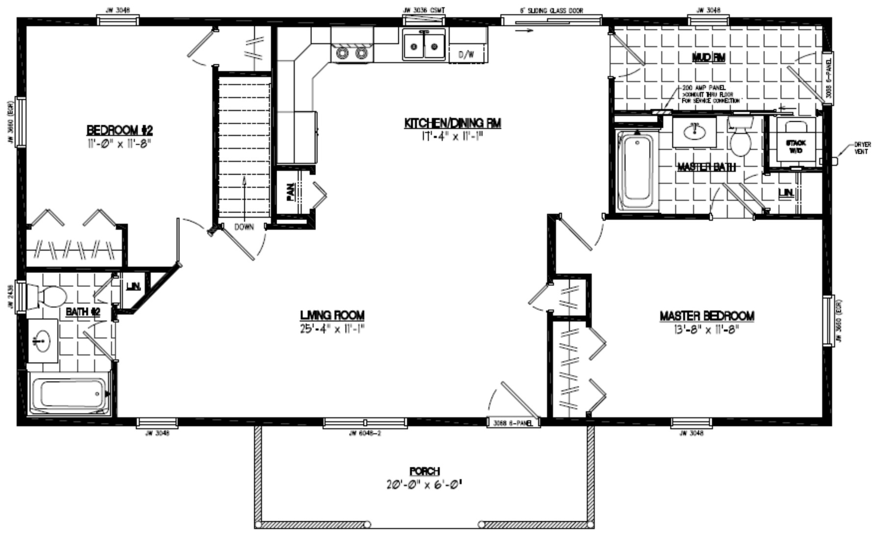 Certified homes pioneer certified home floor plans for 24 x 40 floor plans