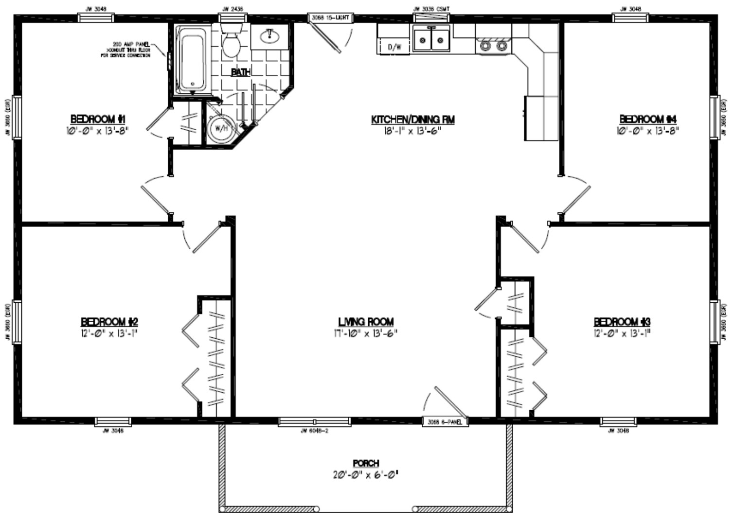 Certified homes pioneer certified home floor plans for Floor plans with pictures