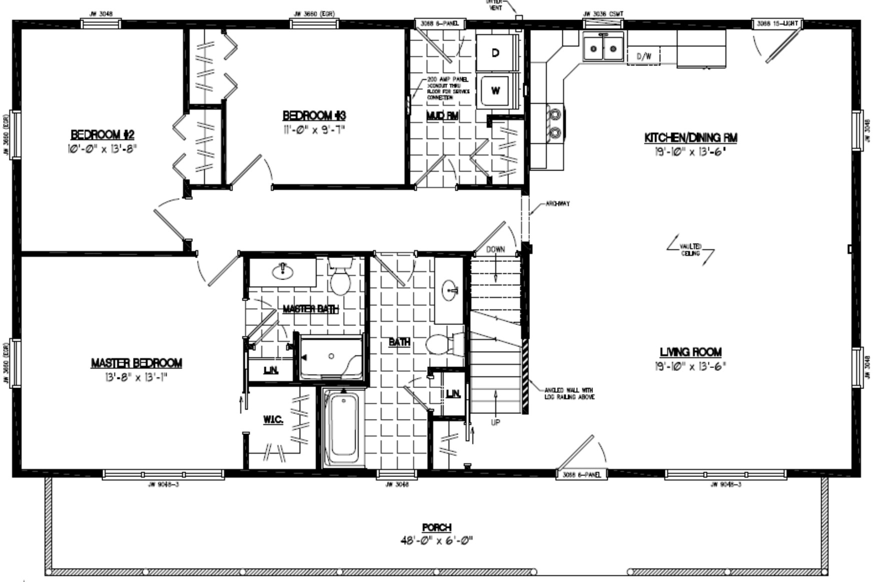 Certified homes mountaineer certified home floor plans for Floor plans with photos