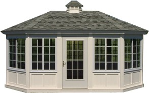 hip roof enclosed