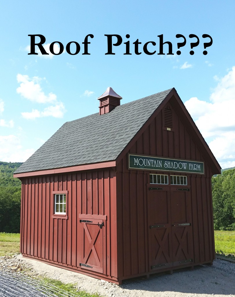 Faq S What Does Roof Pitch Mean Custom Barns And