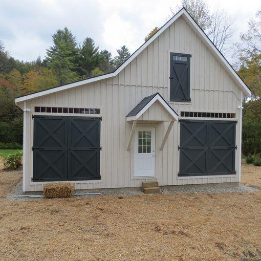 Prefab single car garages custom barns and buildings for Garage kits maine
