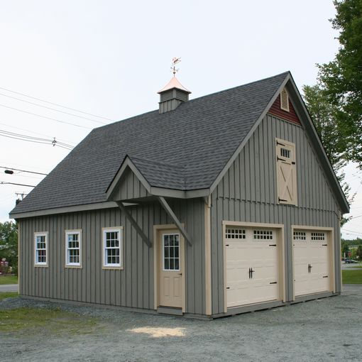 modular two car garages custom barns and buildings the