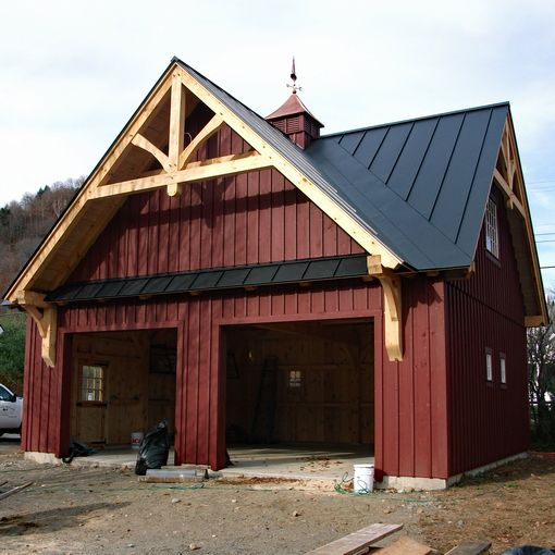 Post Amp Beam Garages Custom Barns And Buildings The