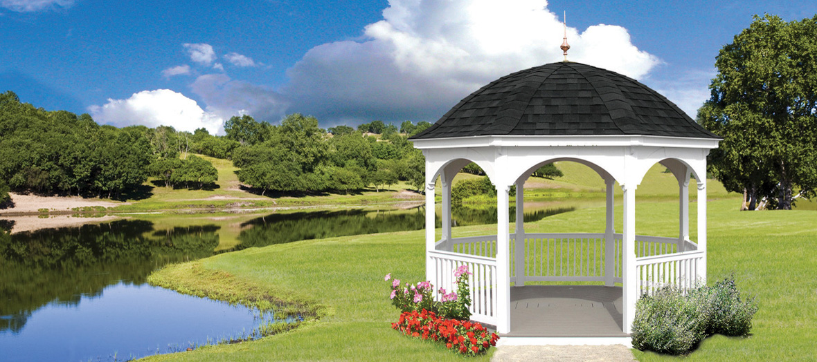 Vinyl Gazebos Custom Barns And Buildings The Carriage Shed