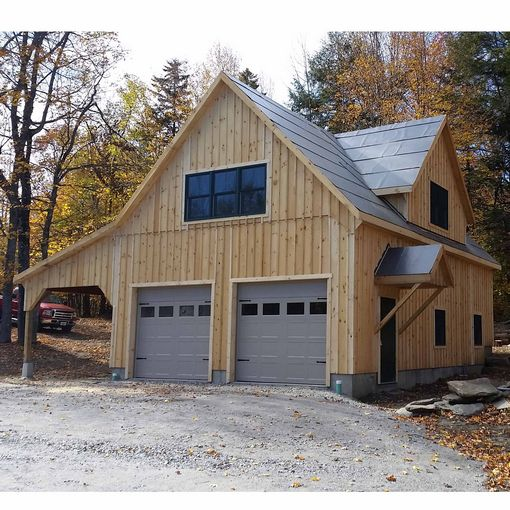 24x36 2 Car 2 Story Garage: Custom Barns And Buildings